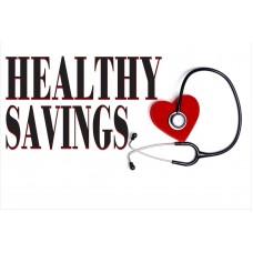 Healthy Savings 2' x 3' Vinyl Business Banner