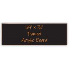 """24""""x 72"""" Wood Framed Acrylic Sign"""