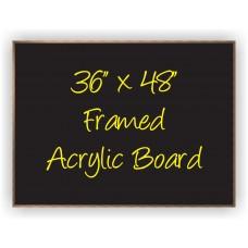 """36""""x 48"""" Wood Framed Acrylic Sign"""