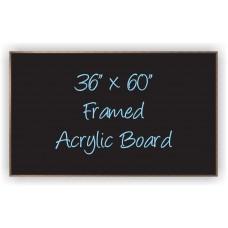 """36""""x 60"""" Wood Framed Acrylic Sign"""
