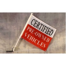 Certified Pre-Owned Car Window Flag