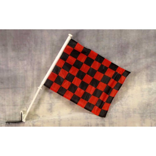 Checkered Red and Black Car Window Flag (C-018) - by www ...