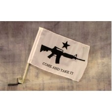 Come And Take It Carbine Car Window Flag