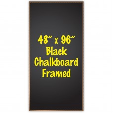 "48"" x 96"" Wood Framed Black Chalkboard Sign"