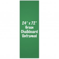 "24"" x 72"" Unframed Green Chalkboard Sign"