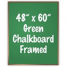 "48"" x 60"" Wood Framed Green Chalkboard Sign"