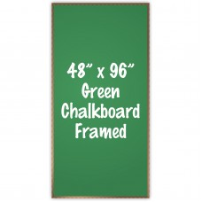 "48"" x 96"" Wood Framed Green Chalkboard Sign"