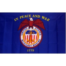 Merchant Marines 3'x 5' Economy Flag