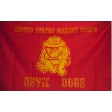 Marines Devil Dogs 3'x 5' Economy Flag