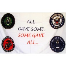 All Gave Some Some Gave All 3'x 5' Economy Flag