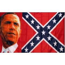 Obama Rebel 3' x5' Flag