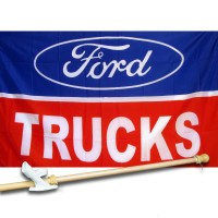 FORD TRUCKS 3' x 5'  Flag, Pole And Mount.