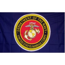 Marines Department of the Navy 3'x 5' Economy Flag