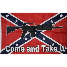 Come And Take It Rebel 3'x 5' Flag