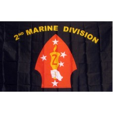 Marines 2nd Division 3'x 5' Economy Flag
