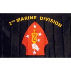 Marines 2nd Division 3'x 5' Economy Flag