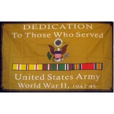 Army WWII Dedication 3'x 5' Economy Flag