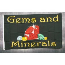 Gems And Minerals 3'x 5' Business Flag