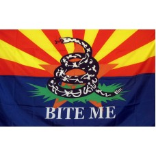Arizona Bite Me Custom 3'x 5' Pro SB 1070 Flag