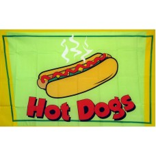 Hot Dogs 3'x 5' Advertising Flag