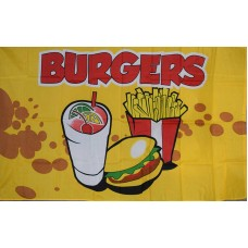 Burgers 3'x 5' Advertising Flag