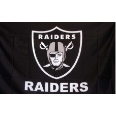 Oakland Raiders w/ Words 3' x 5' Polyester Flag