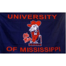 Mississippi Rebels Gentleman 3'x 5' College Flag