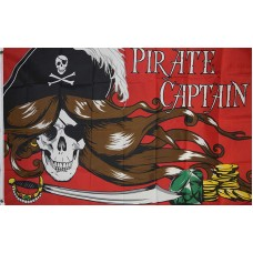 Pirate Captain 3'x 5' Pirate Flag