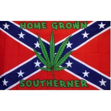 Rebel Battle Marijuana Leaf 3'x 5' Flag