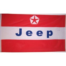 Jeep Red 3' x 5' Automotive Logo Flag