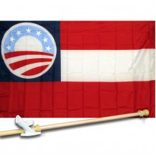 FIRST NTL OBAMA W/ 7 STARS 3' x 5'  Flag, Pole And Mount.