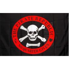 Pirate Republic Red Circle 3'x 5' Flag