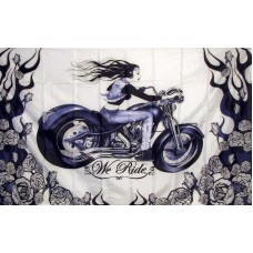 Biker We Ride 3'x 5' Flag