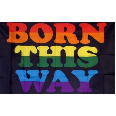 Born This Way Rainbow 3' x 5' Flag