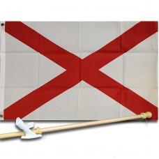 ALABAMA STATE 2' X 3'  Flag, Pole And Mount.