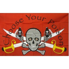Name Your Poison Skull & Swords 3'x 5' Pirate Flag