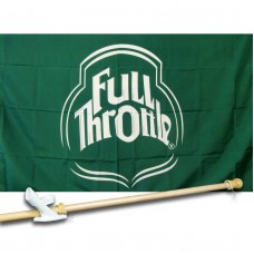 FULL THROTTLE 3' x 5'  Flag, Pole And Mount.