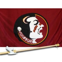 FLORIDA STATE UNIV.SEMINOLES 3' x 5'  Flag, Pole And Mount.