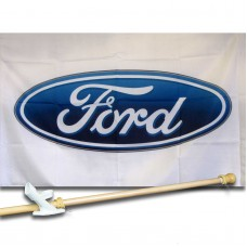 FORD  2 1/2' X 3 1/2'   Flag, Pole And Mount.