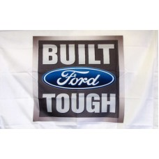 Built Ford Tough Car Lot Flag
