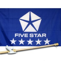 FIVESTAR  2 1/2' X 3 1/2'   Flag, Pole And Mount.