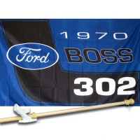 FORD BOSS 302 3' x 5'  Flag, Pole And Mount.