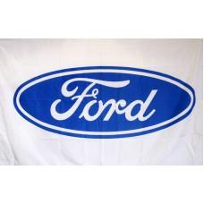 Ford White Automotive 3'x 5' Flag