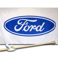 FORD  3' x 5'  Flag, Pole And Mount.