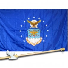 AIR  FORCE 3' x 5'  Flag, Pole And Mount.