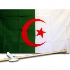 ALGERIA COUNTRY 3' x 5'  Flag, Pole And Mount.