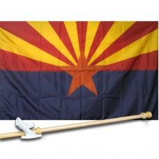 ARIZONA 3' x 5'  Flag, Pole And Mount.