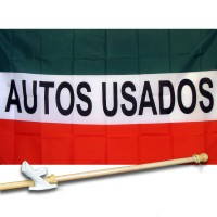 S USADOS 3' x 5'  Flag, Pole And Mount.