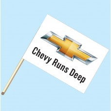 Chevy Runs Deep Flag/Staff Combo