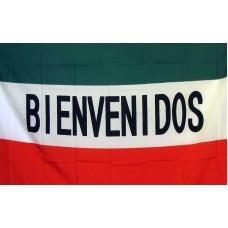 Bienvenidos (Welcome) 3'x 5' Business Flag